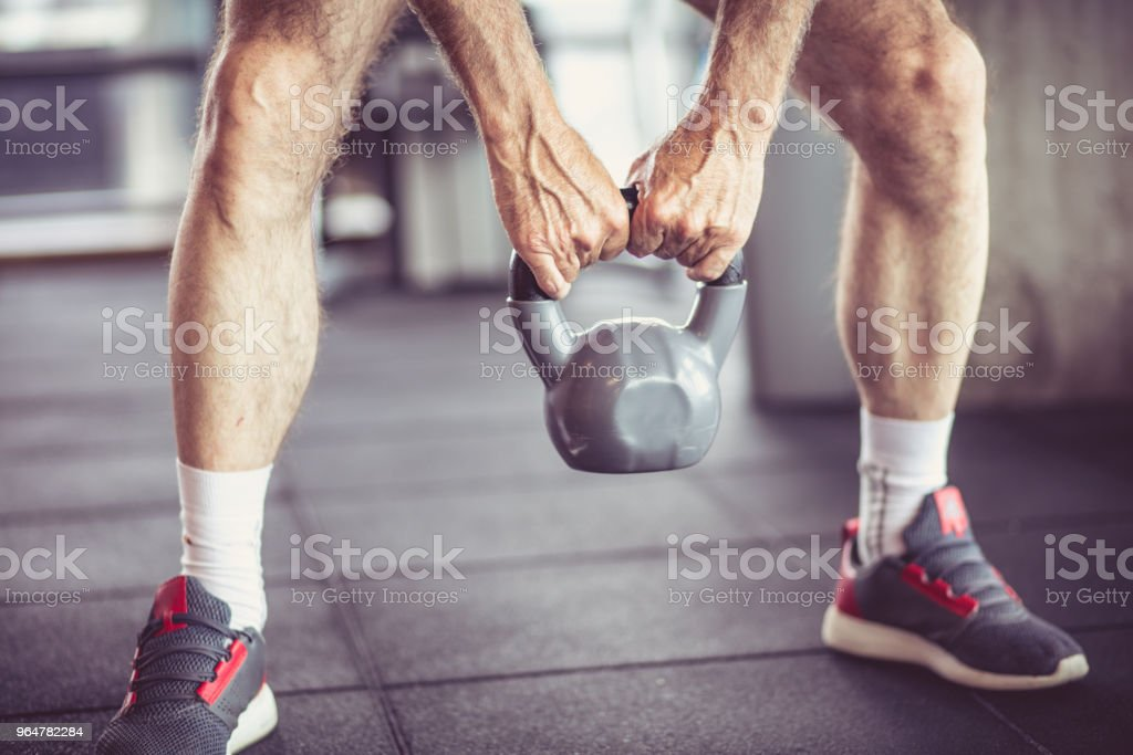 Weight exercise. royalty-free stock photo