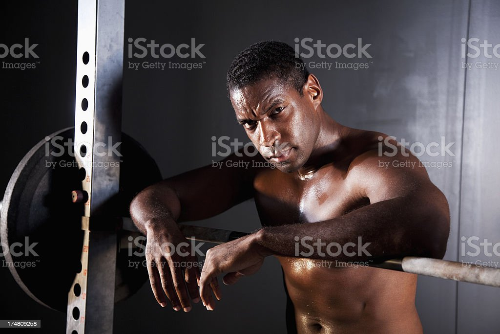 Weight lifter royalty-free stock photo