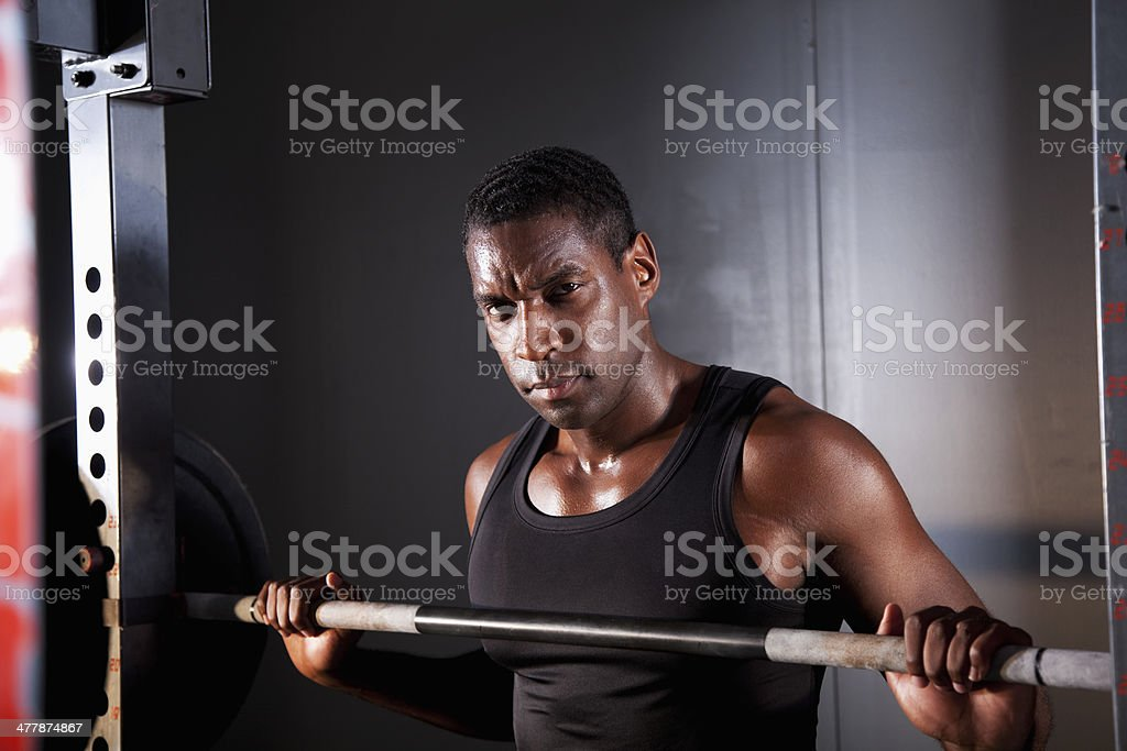 Weight lifter stock photo