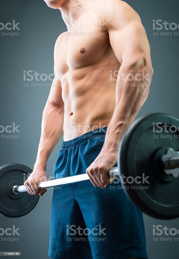 Weight lifting royalty-free stock photo