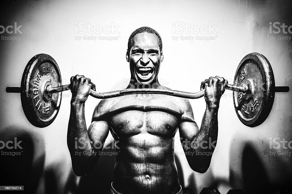 Weight lifting stock photo