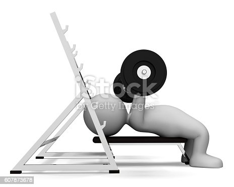 Weight Lifting Meaning Physical Activity And Empowerment 3d Rendering