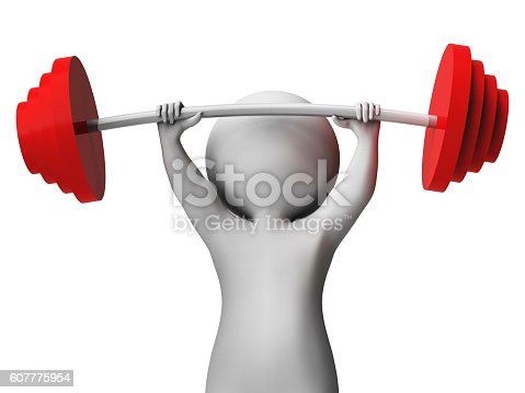 Weight Lifting Meaning Fitness Center And Toughness 3d Rendering