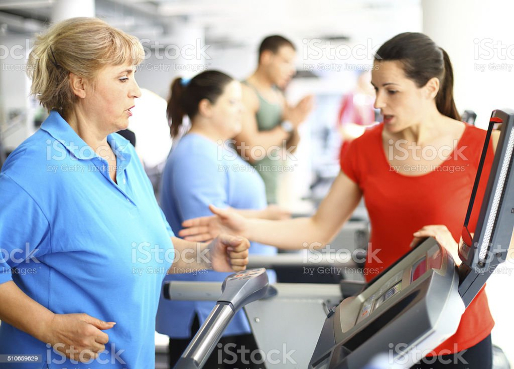 Weight loss exercise. stock photo