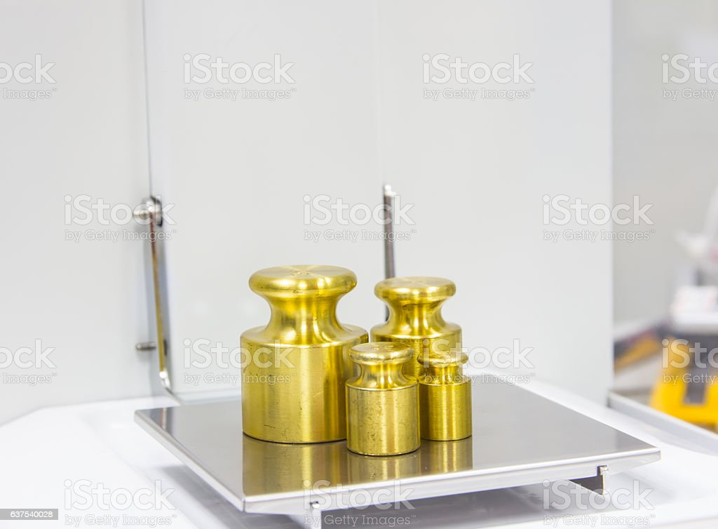 Weight measure stock photo