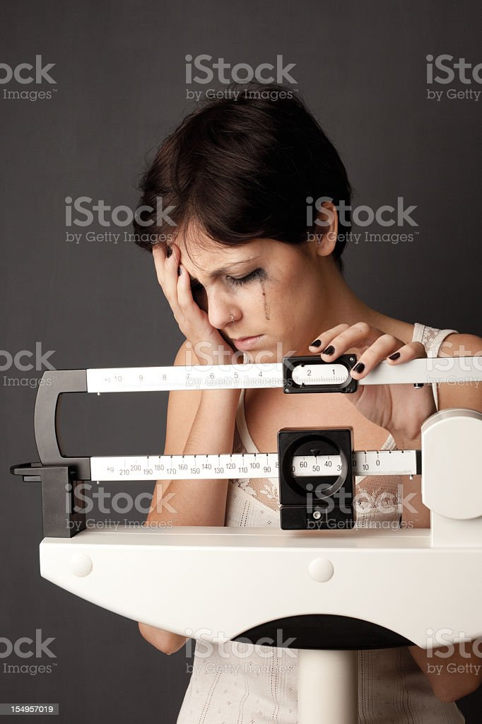 Weight obsession royalty-free stock photo