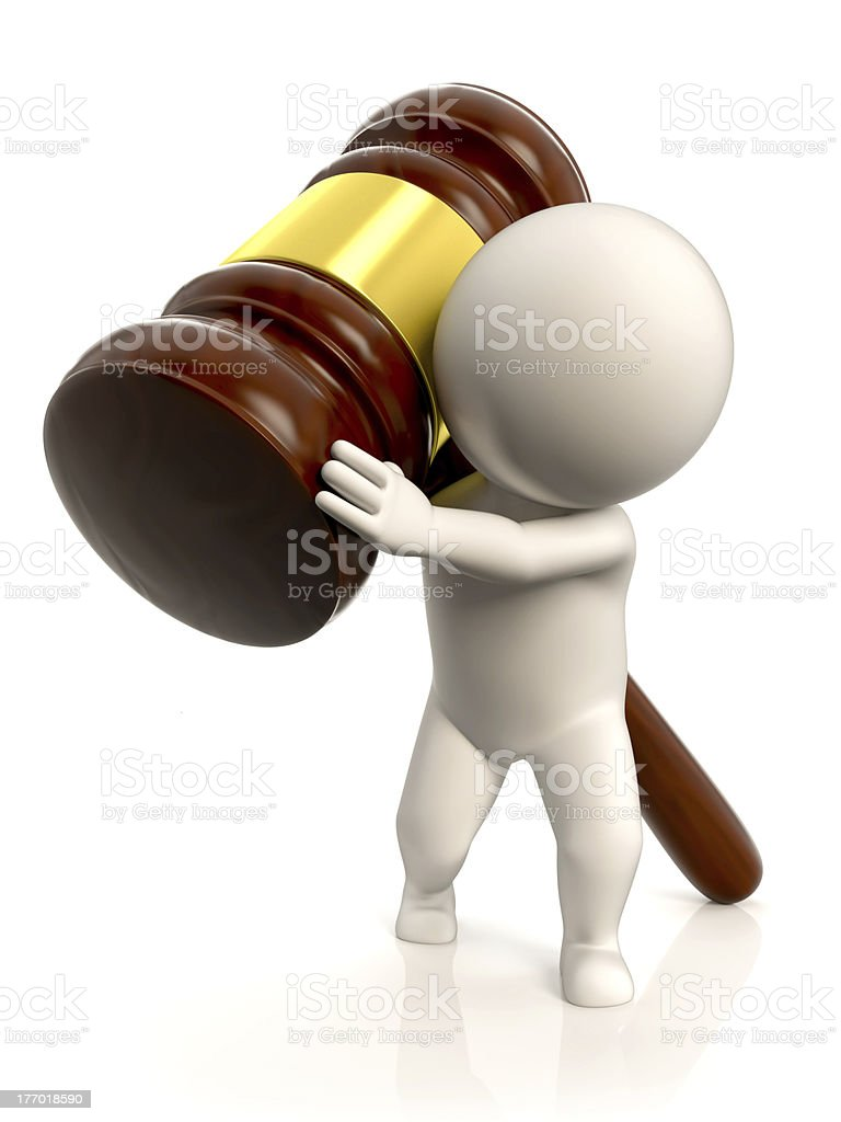 Weight of the law royalty-free stock photo