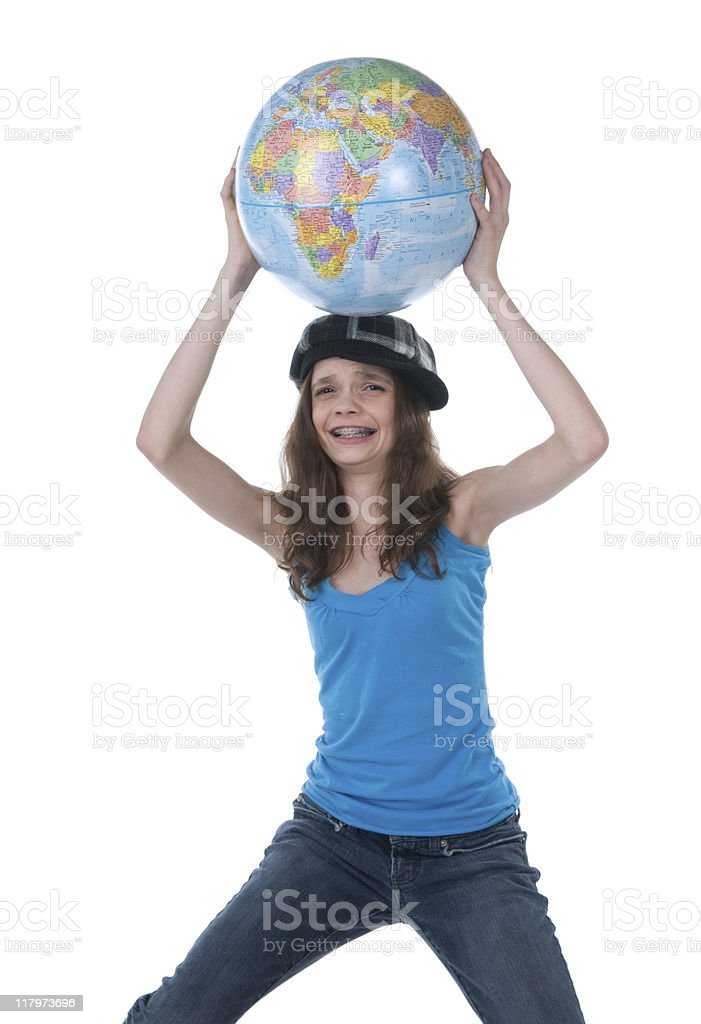 Weight of the World stock photo