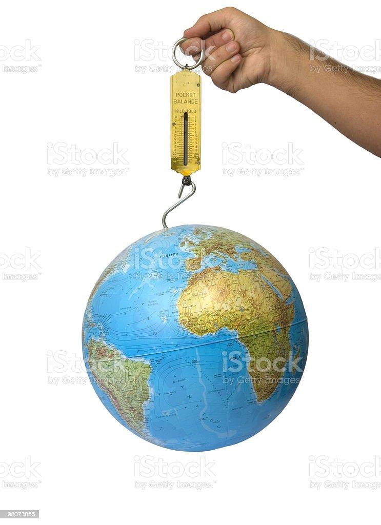 Peso del mondo foto stock royalty-free