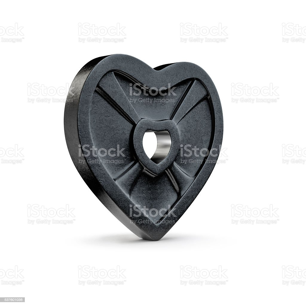 Weight plate heart stock photo