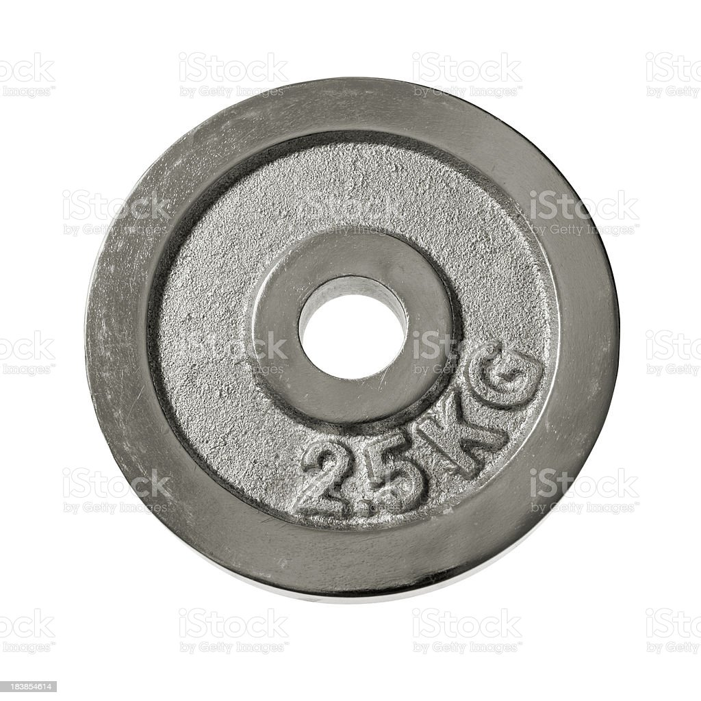 Weight plate on white stock photo