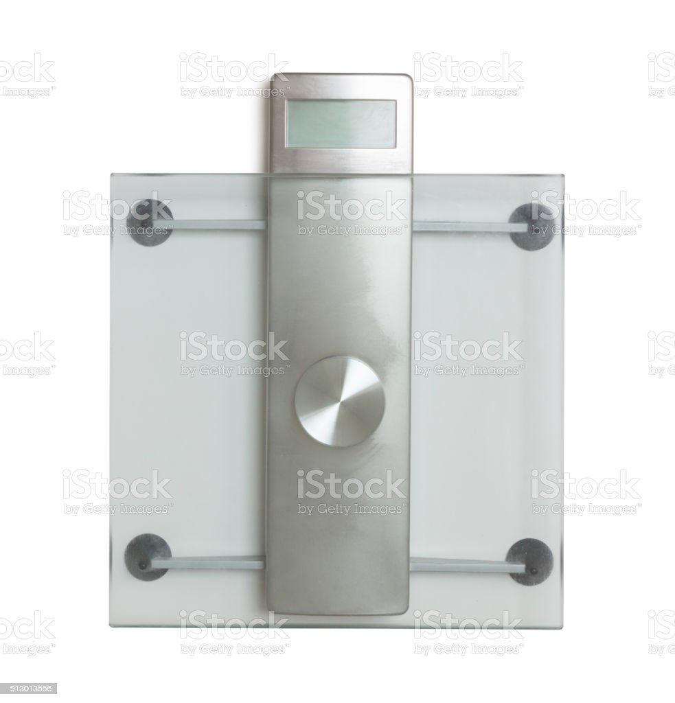 Weight scale isolated stock photo