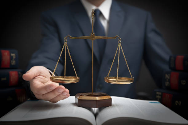 Weight scale of justice, lawyer in library Weight scale of justice, lawyer in library. Law, legal with attorney concept jurist stock pictures, royalty-free photos & images