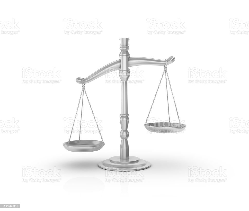 Weight Scale on White Background stock photo