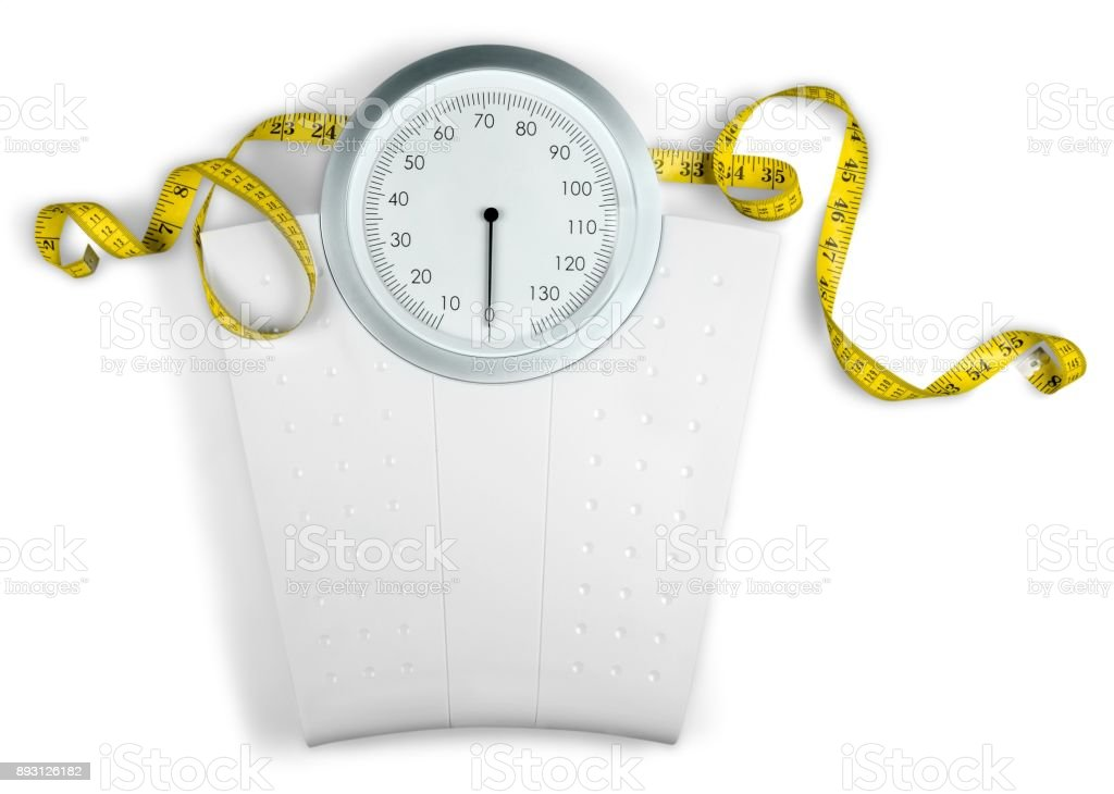 Weight scale. stock photo