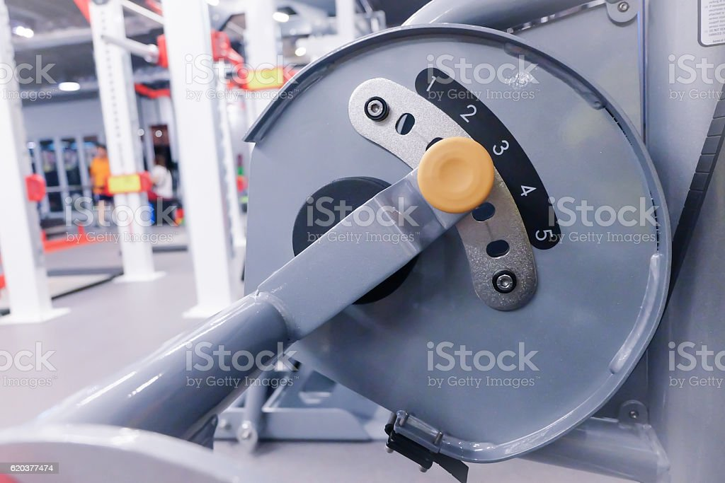 weight stack in sport club or gym and fitness room. foto de stock royalty-free