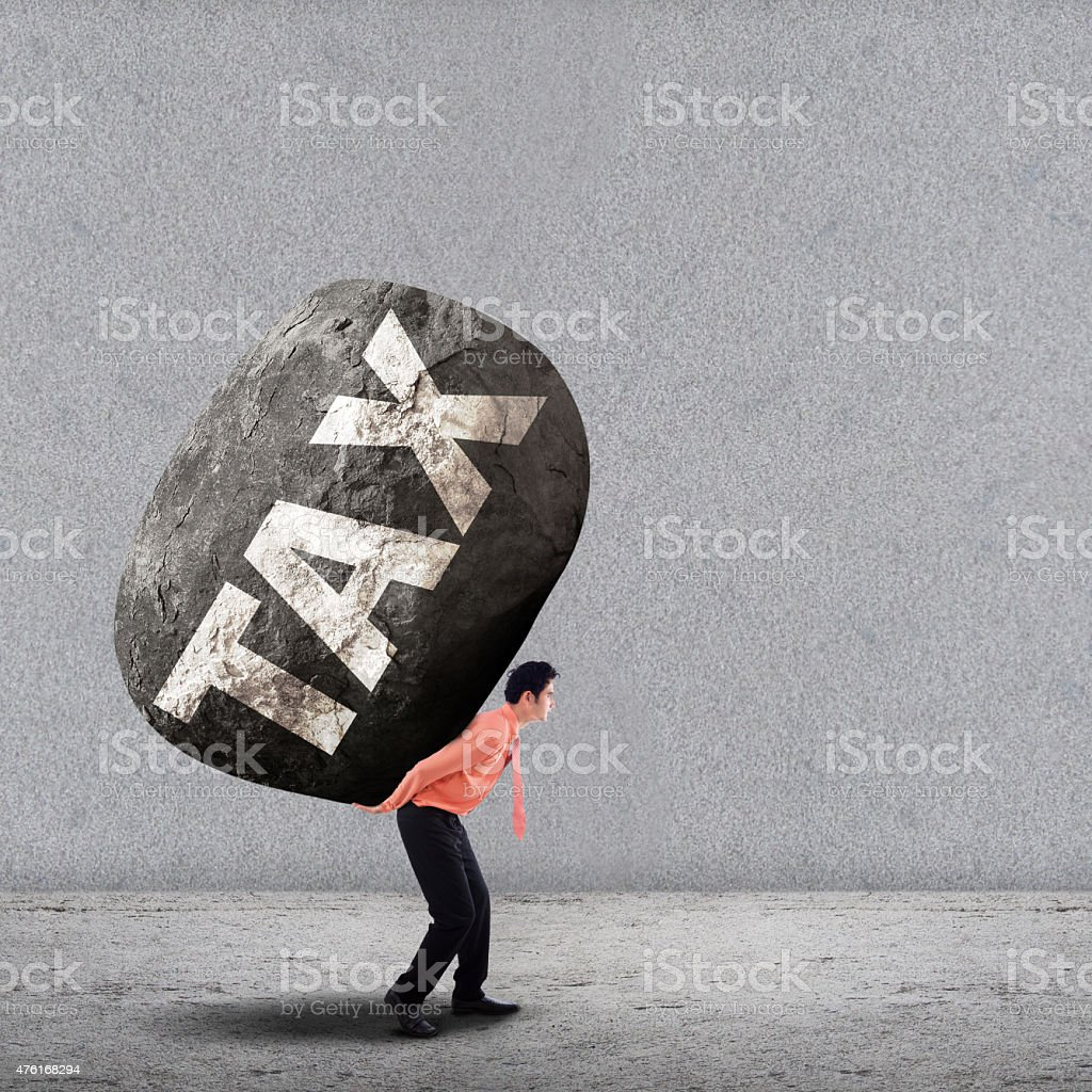 Weight tax concept 1 stock photo