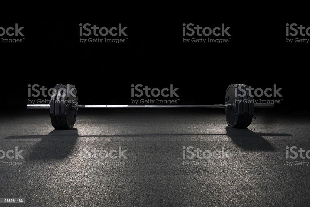 Weight training equipment stock photo
