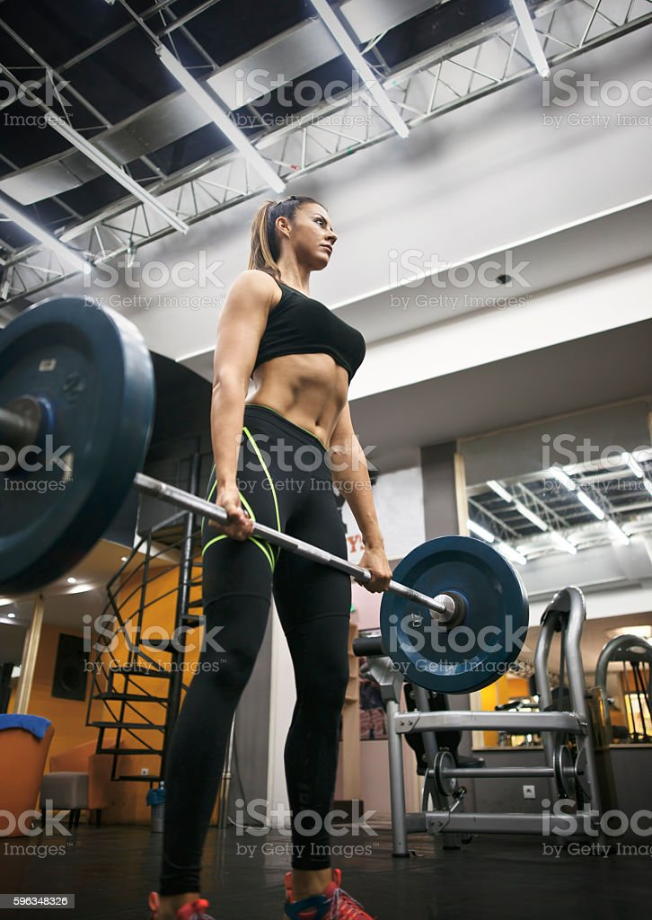 Weight Training for Women royalty-free stock photo