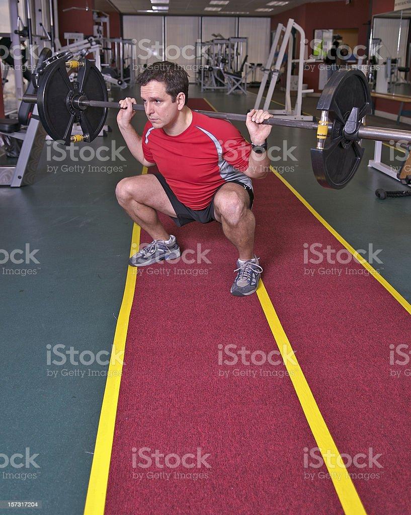 Weight Training royalty-free stock photo
