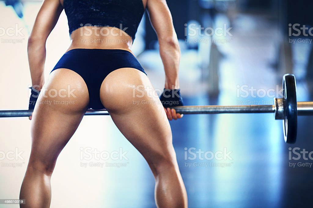 Weight training. stock photo