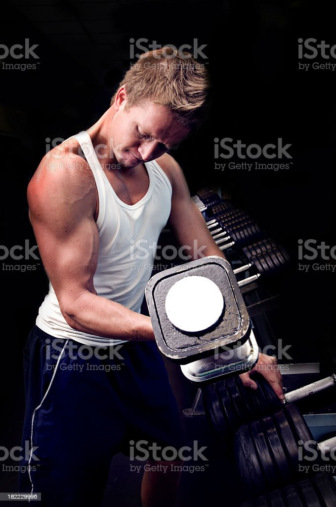 Weight Training Portrait royalty-free stock photo
