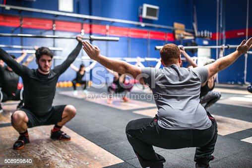 610237160 istock photo weightlifting class togetherness 508959840