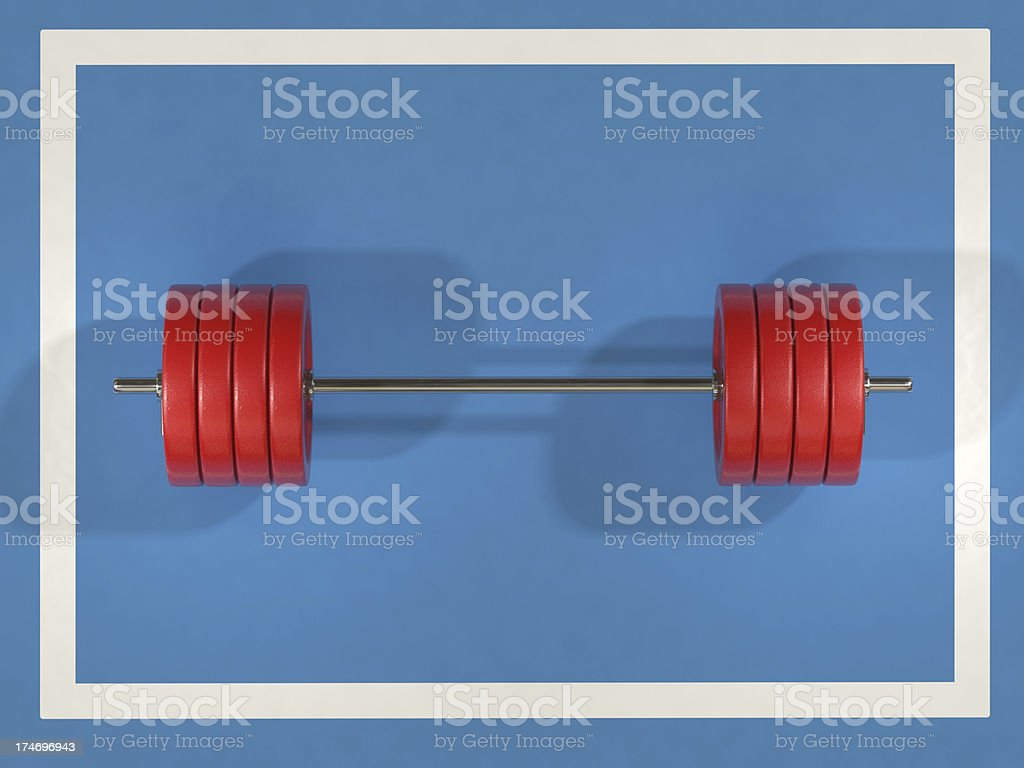 Weightlifting royalty-free stock photo