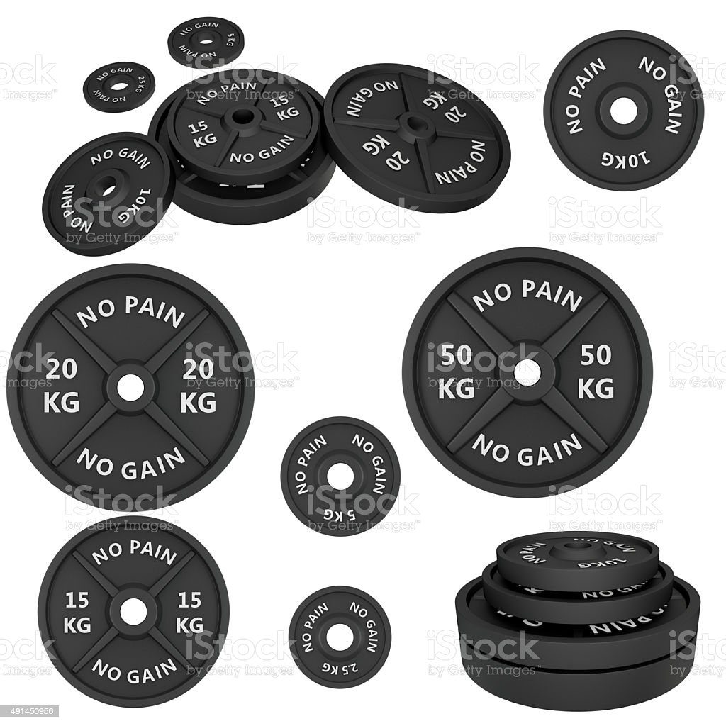 Weights, isolated on white background. stock photo