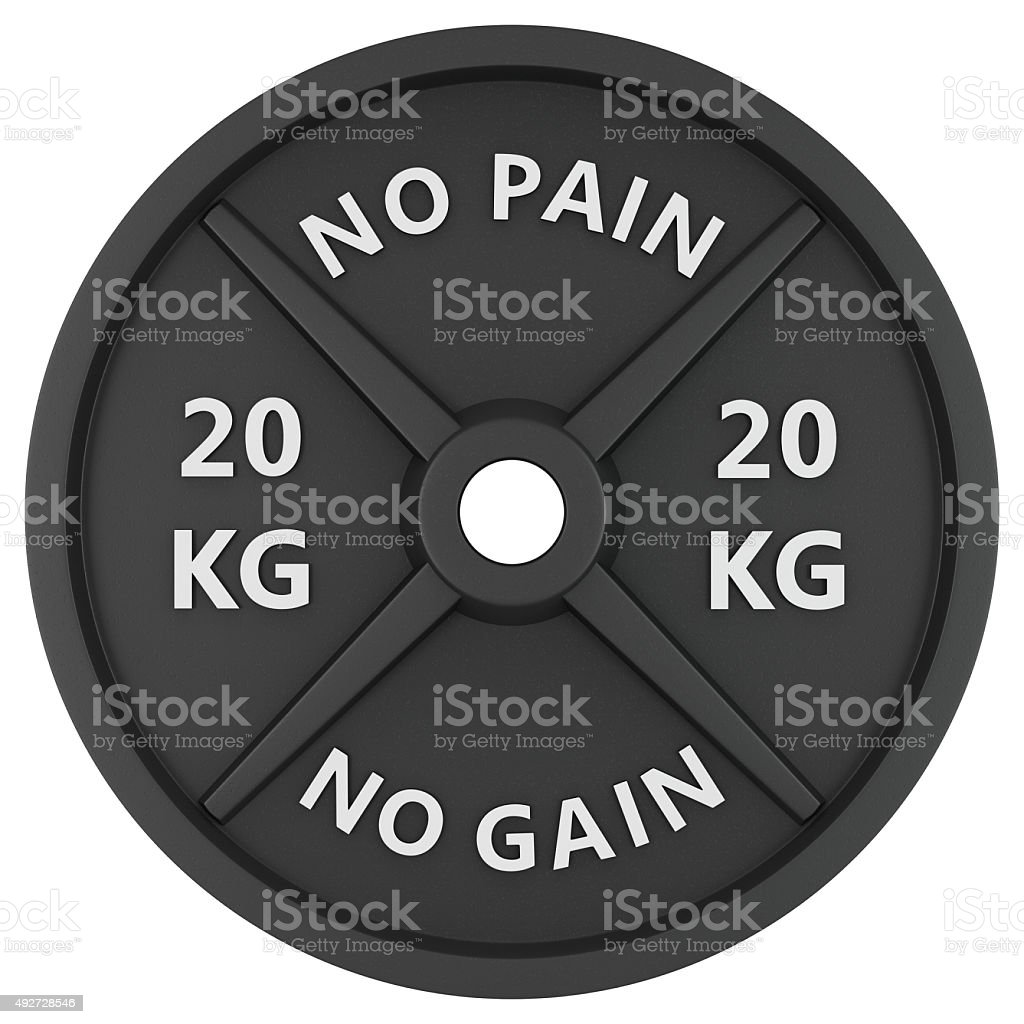 Weights isolated on white background. stock photo