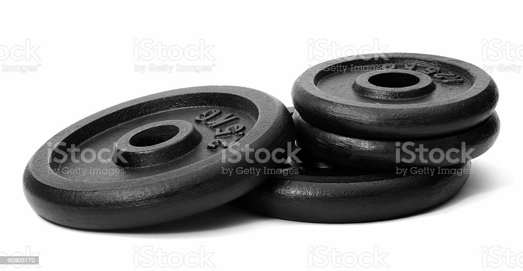 Weights, isolated on white background royalty-free stock photo