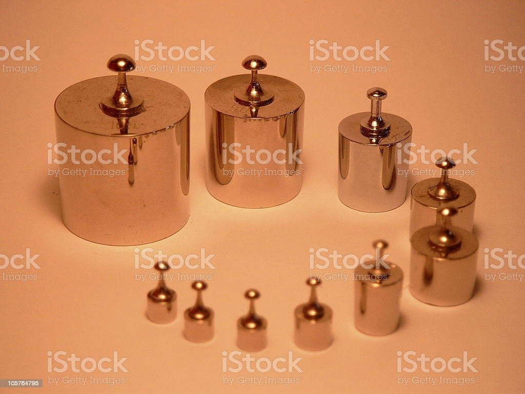 10 Weights royalty-free stock photo