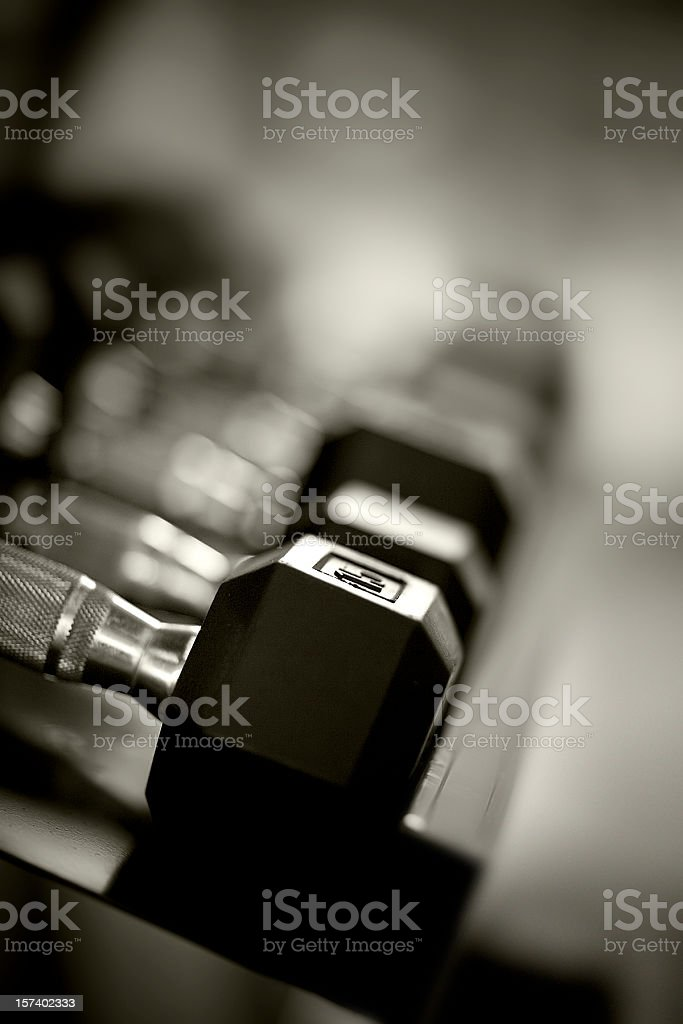 weights rack royalty-free stock photo