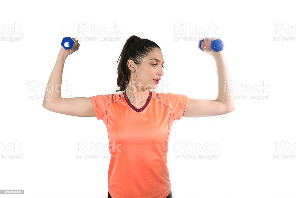 Weights Training royalty-free stock photo