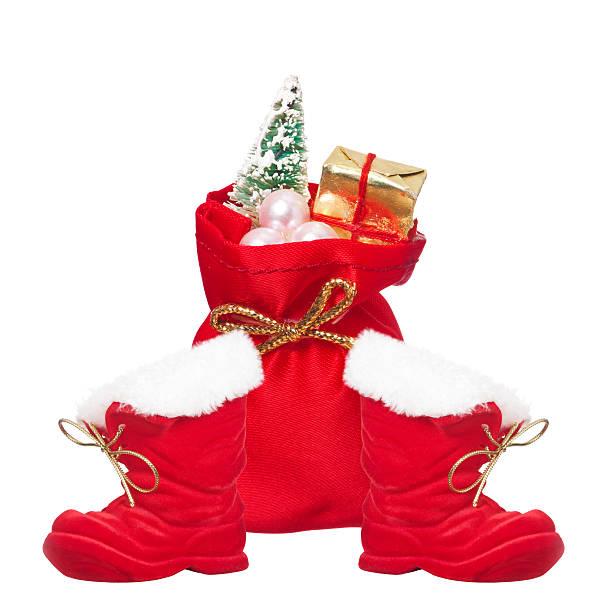 weihnachten - nikolausstiefel stock-fotos und bilder