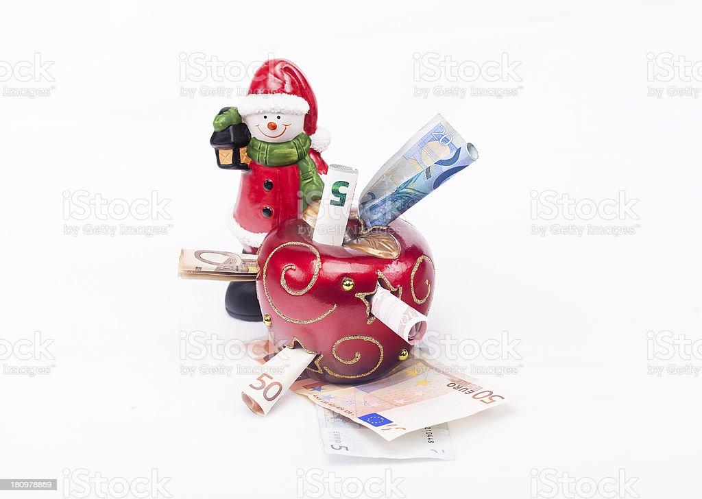 Weihnachten und das Geld / Christmas and the Money stock photo