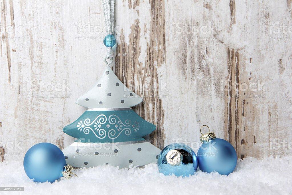 Weihnachten, Weihnachtsdekoration türkis, blau stock photo