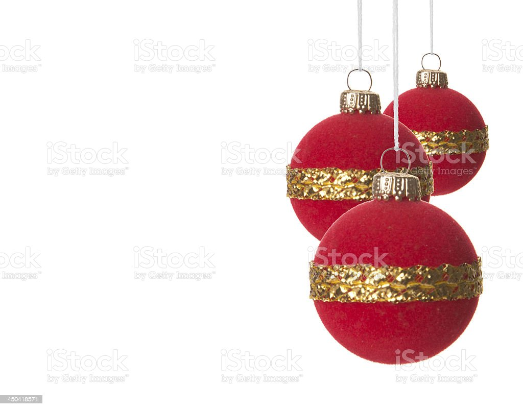 Weihnachten, Weihnachtskugeln rot und gold royalty-free stock photo