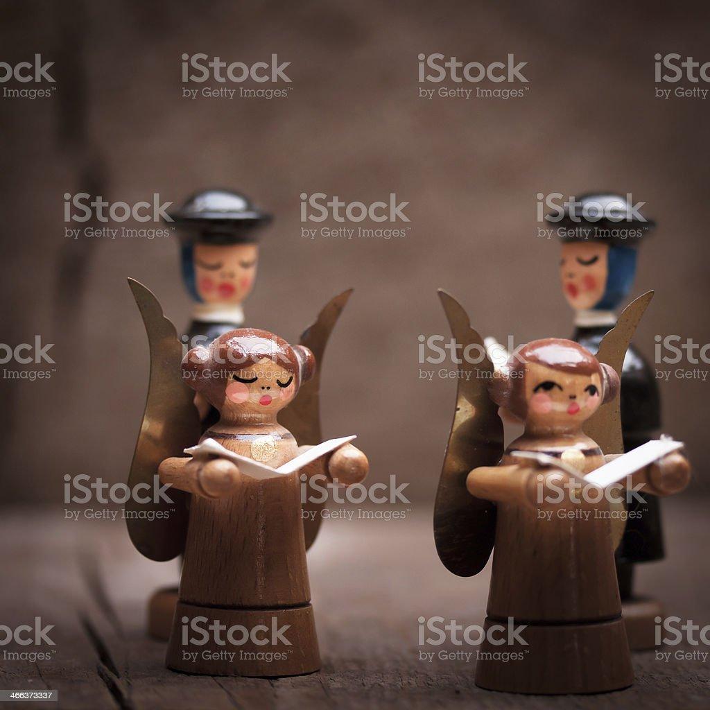 Weihnachtliche Figuren stock photo