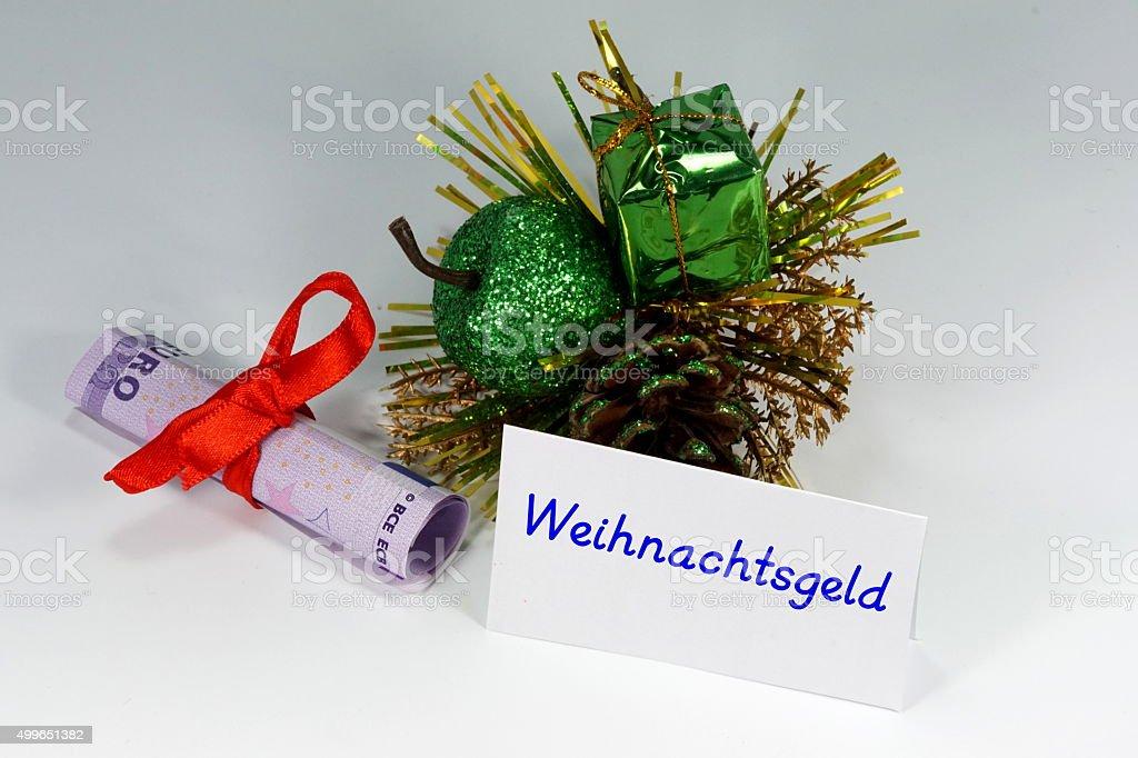 Weihnachtsgeld stock photo
