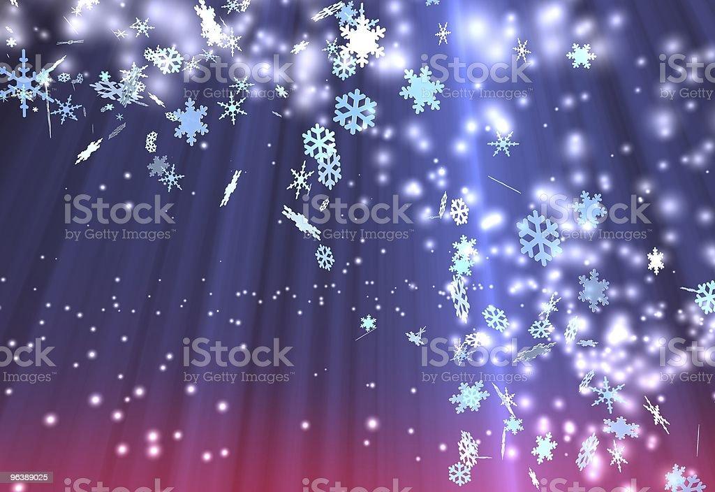 Weihnachtshintergrund - Royalty-free Blue Stock Photo