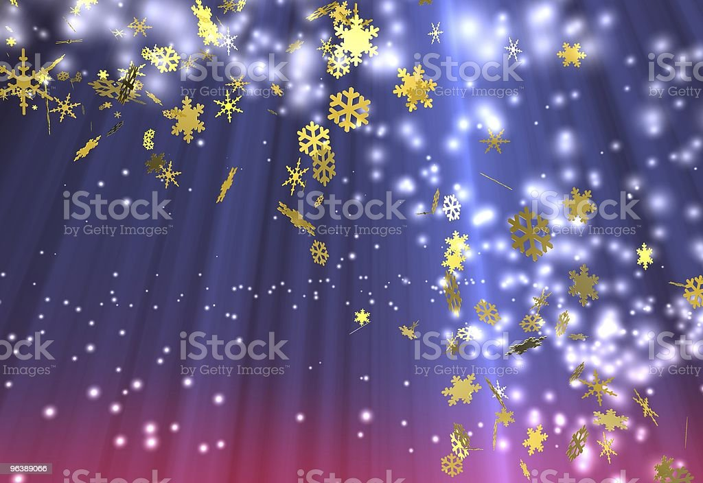 Weihnachtshintergrund - Royalty-free Blue Stock Photo