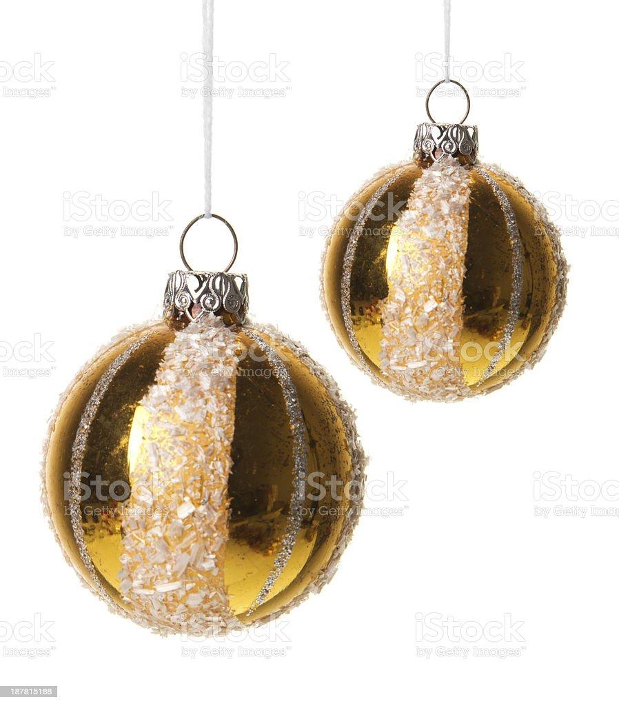 Weihnachtskugeln gold royalty-free stock photo