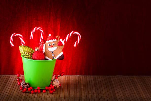Christbaumkugeln Rosegold.Best Christmas Lebkuchen Wood Backgrounds Stock Photos