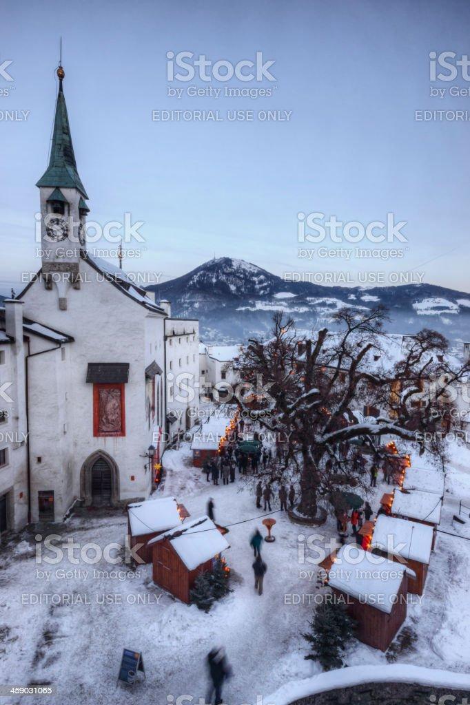 Weihnachtsmarkt am Festung Hohensalzburg royalty-free stock photo