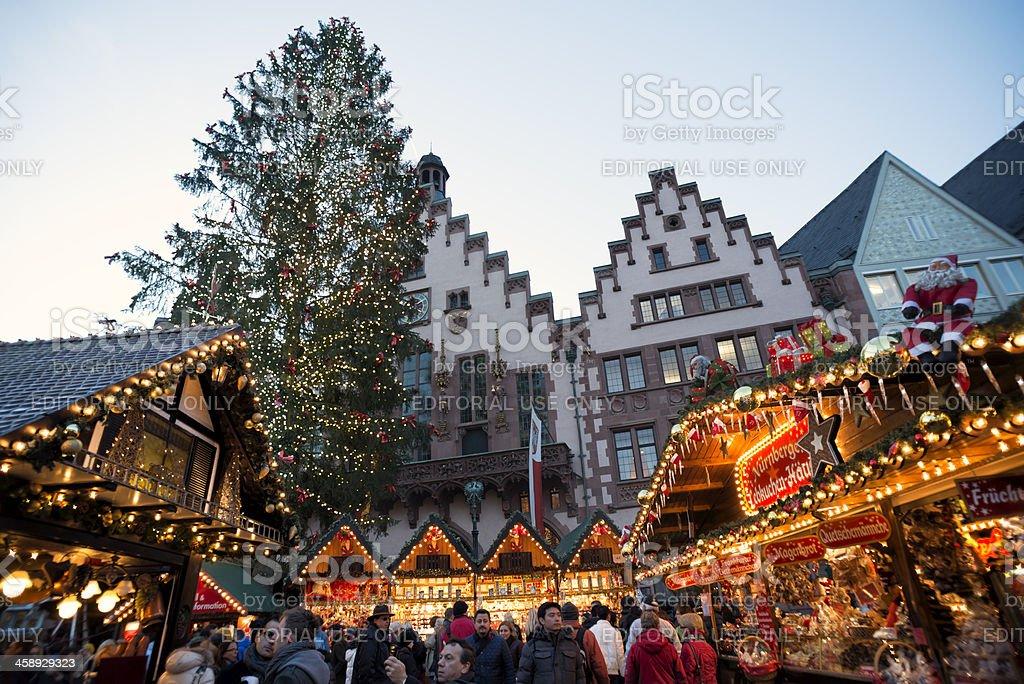 Weihnachtsmarkt Frankfurt Main.Weihnachtsmarkt Christmas Market Roemer Frankfurt Germany Stock