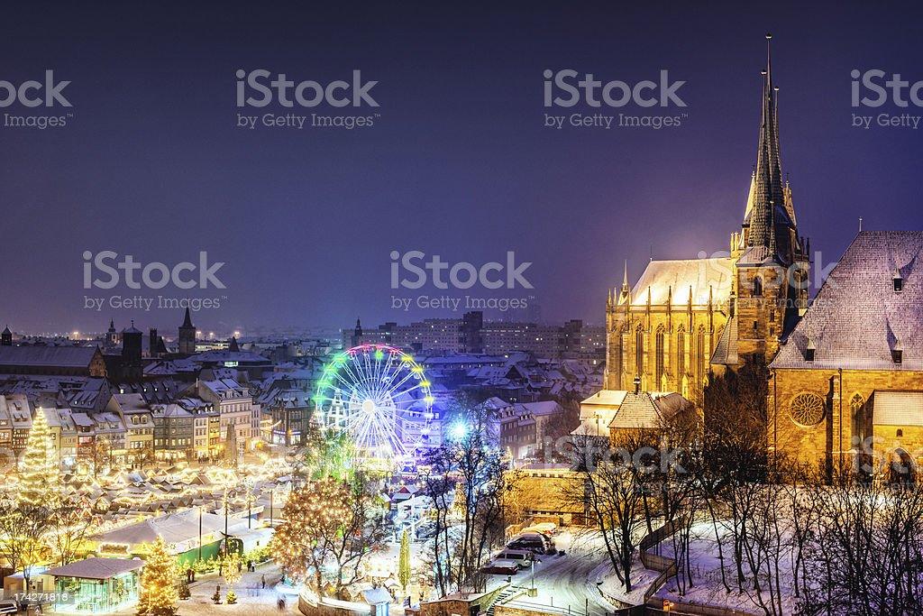 Weihnachtsmarkt (Christmas Market) Erfurt stock photo
