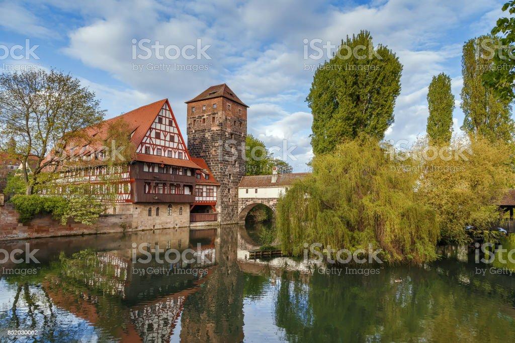 Weinstadel, Nuremberg, Germany stock photo