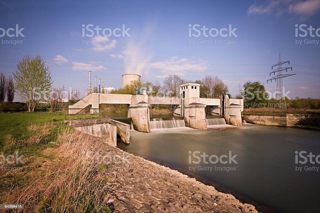 Weir Long Exposure royalty-free stock photo
