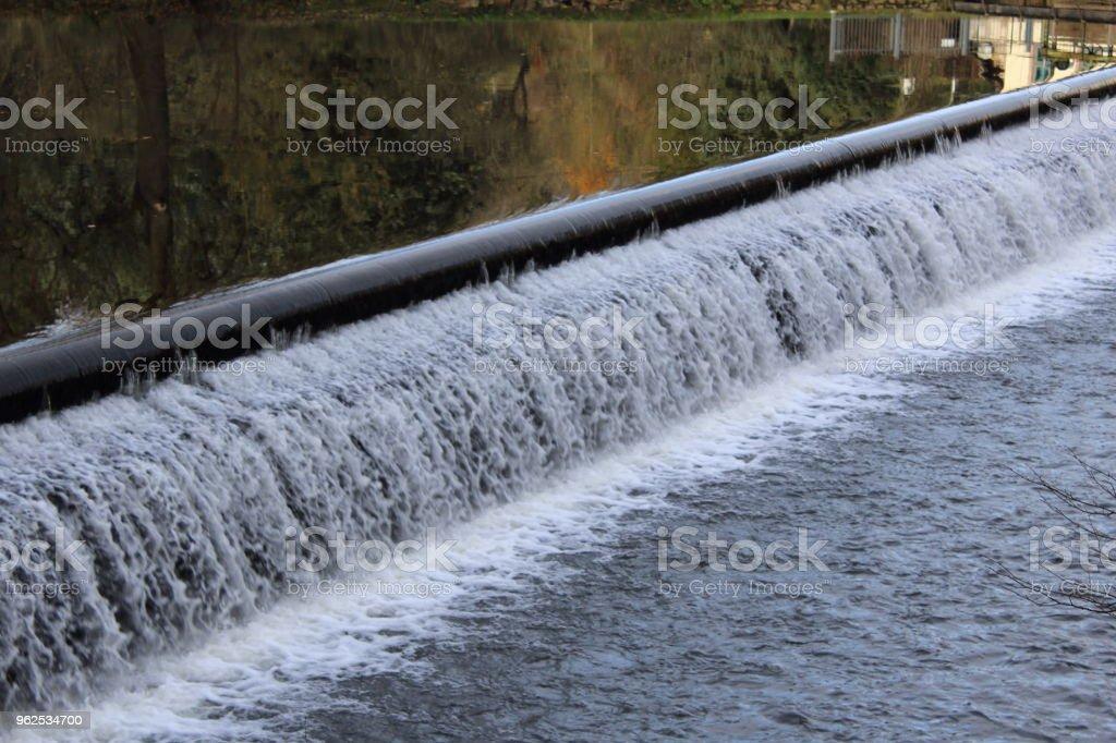 Açude em um rio - Foto de stock de Alemanha royalty-free
